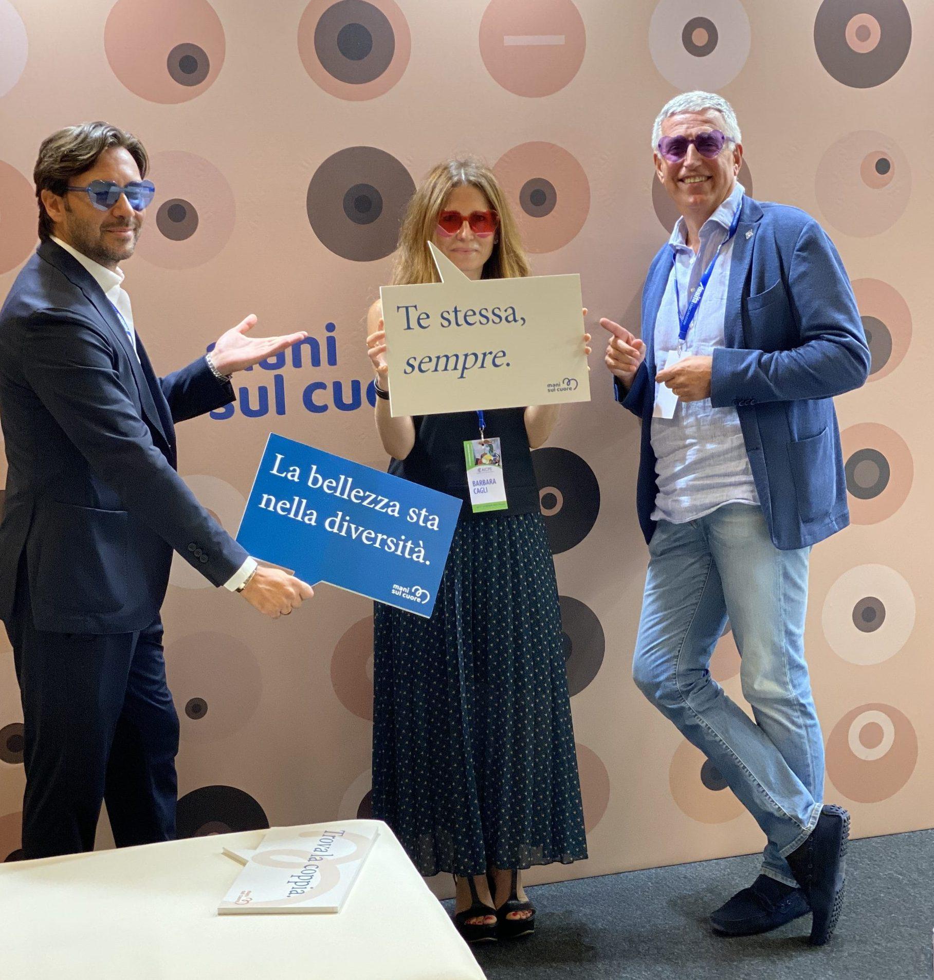Adriano Santorelli, Barbara Cagli e Pierfrancesco Cirillo al convegno nazionale AICPE